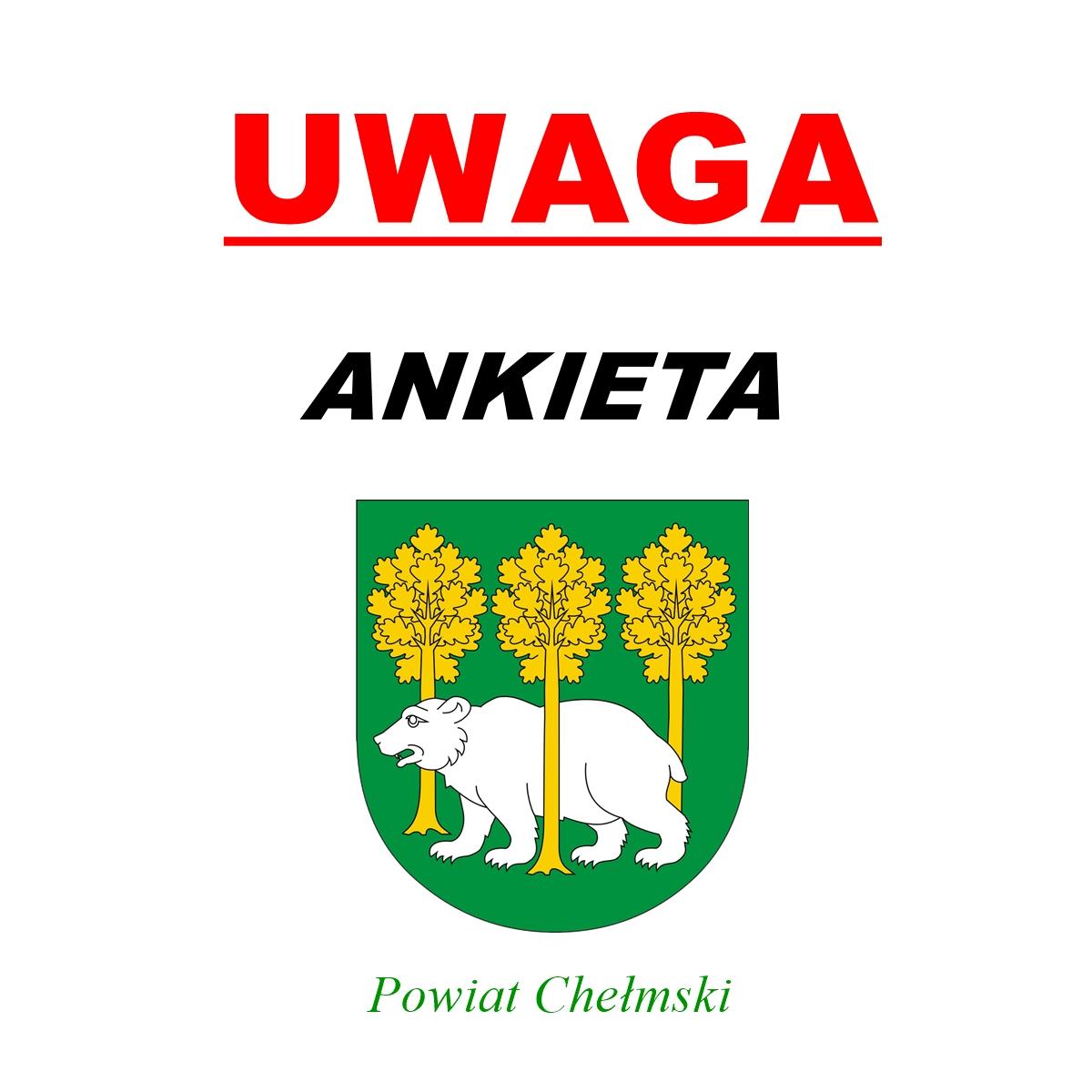 Uwaga - ankietam herb powiatu chełmskiego