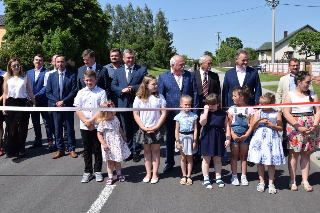 Otwarcie drogi powiatowej wgminie Sawin
