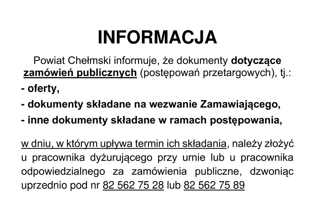 Informacja - Zamówienia publiczne