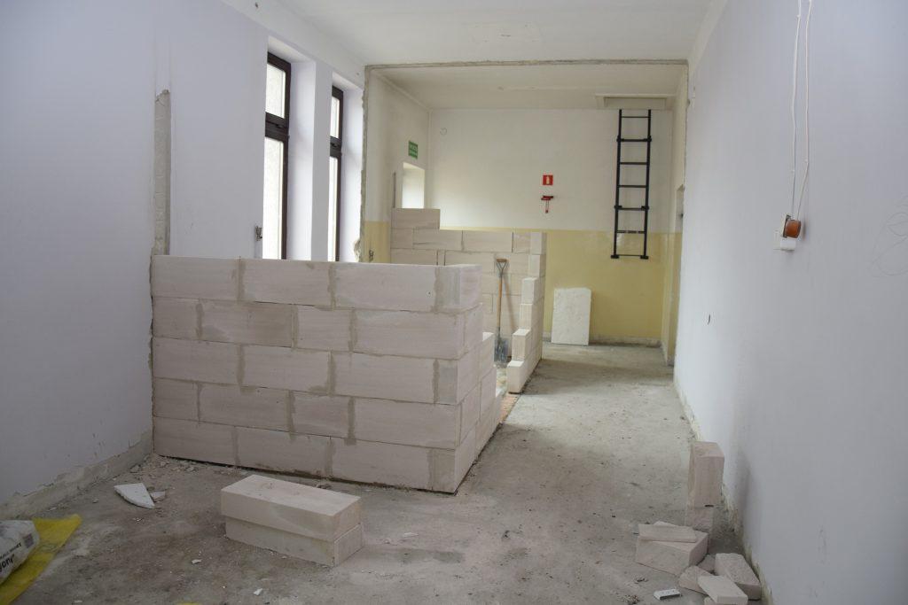Remontowane pomieszczenie