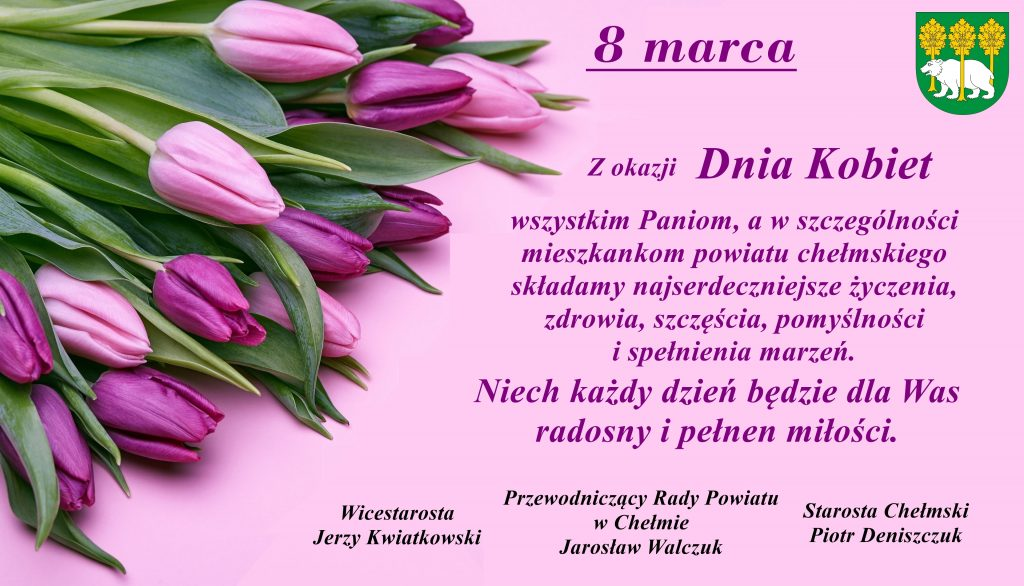 8 marca - życzenia nadzień kobiet