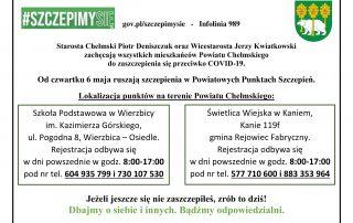 Ruszają szczepienia w Powiatowych Punktach Szczepień - Powiat Chełmski