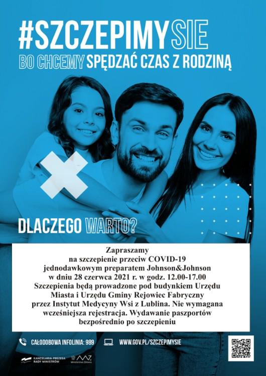 Plakat oszczepieniach przeciw COVID-19