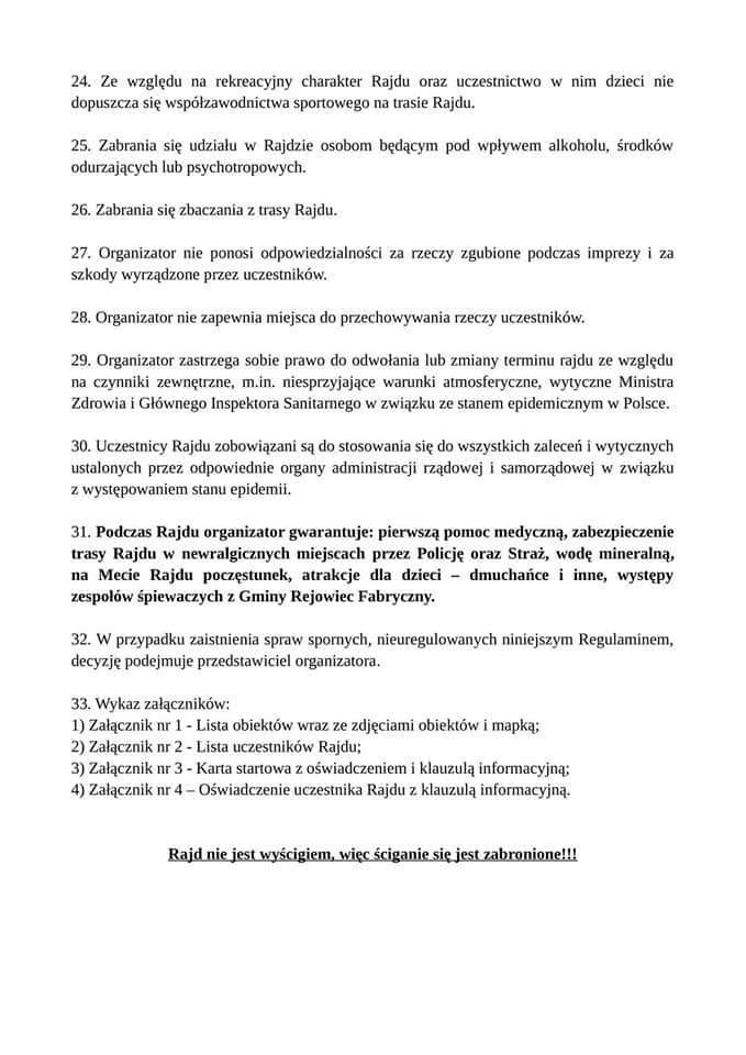 regulamin rajdu rowerowego Tour de Lubelskie
