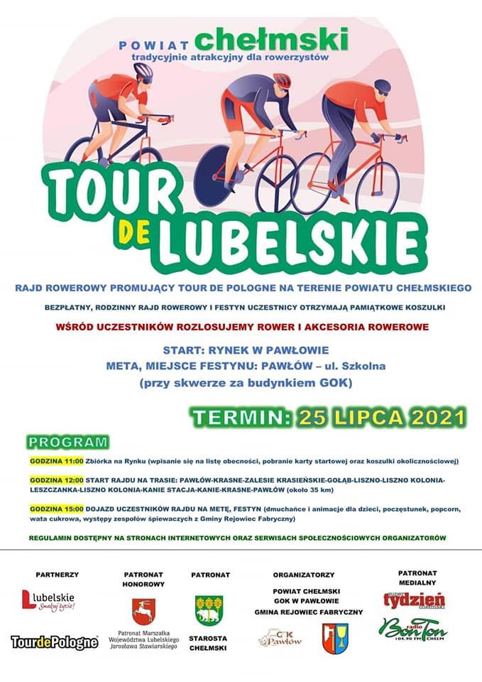 plakat rajdu rowerowego Tour de Lubelskie