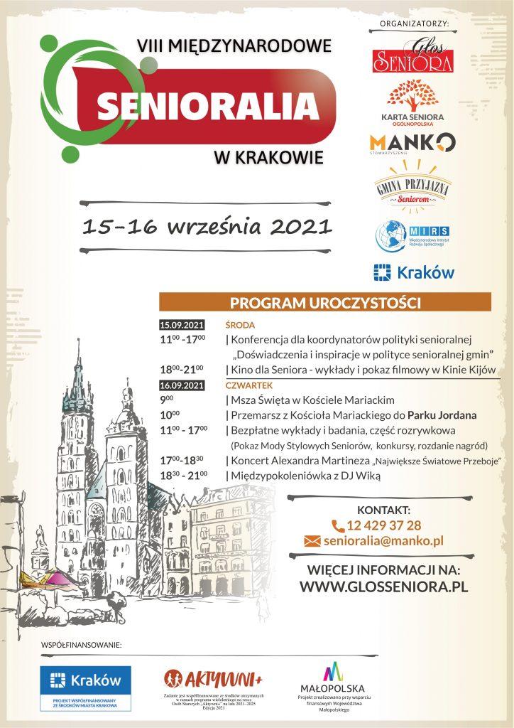Plakat - VIII Międzynarodowe Senioralia wKrakowie