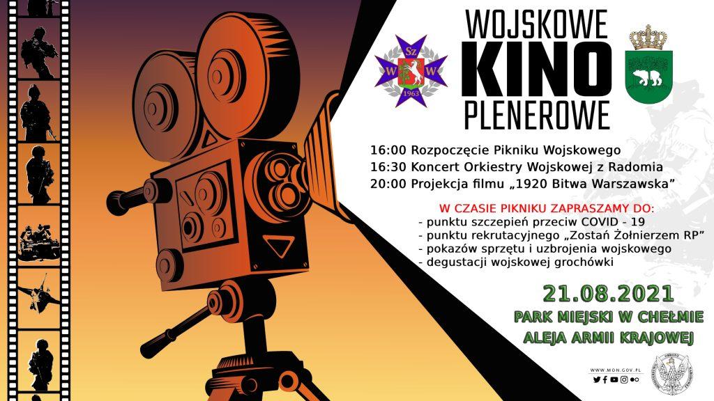 plakat wojskowego kina plenerowego
